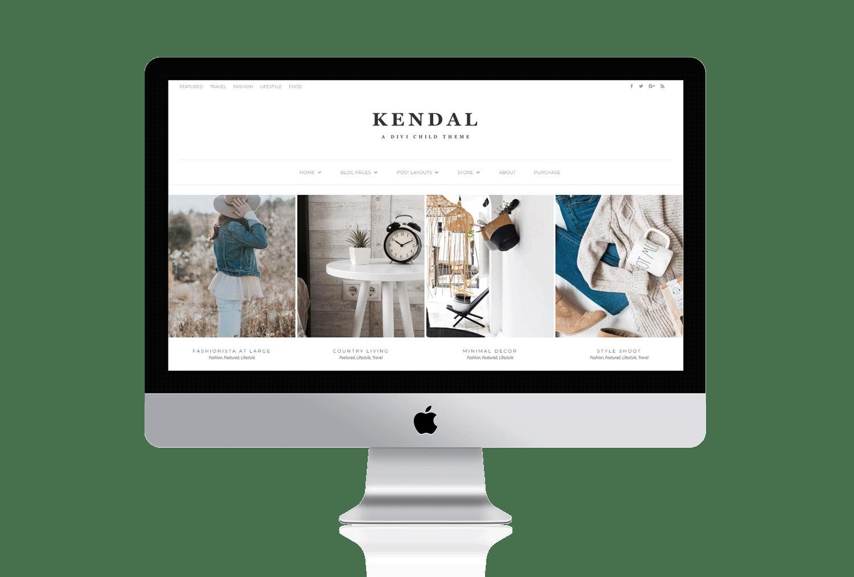 Kendal - Divi Child Theme for Blogging | Pretty Divi Theme Shop