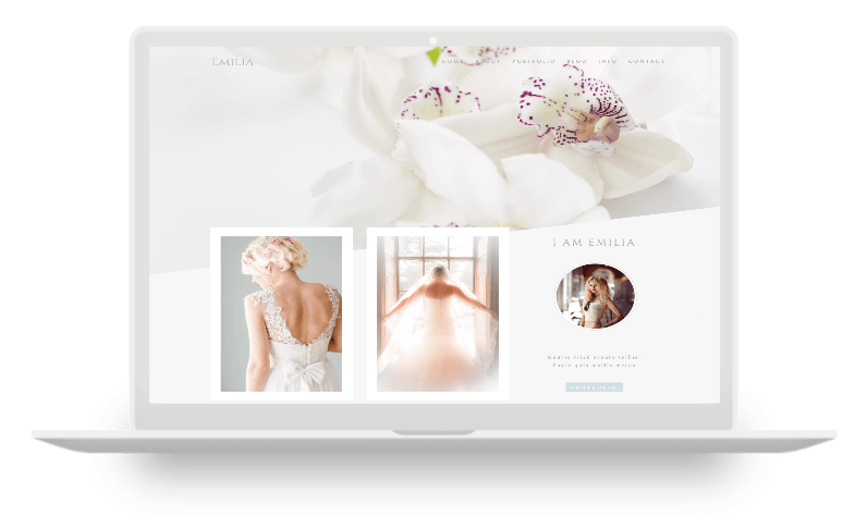 feminine divi child themes - classic photography