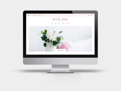 Pretty Girly - Divi Child Theme Feminine WordPress Blog layout