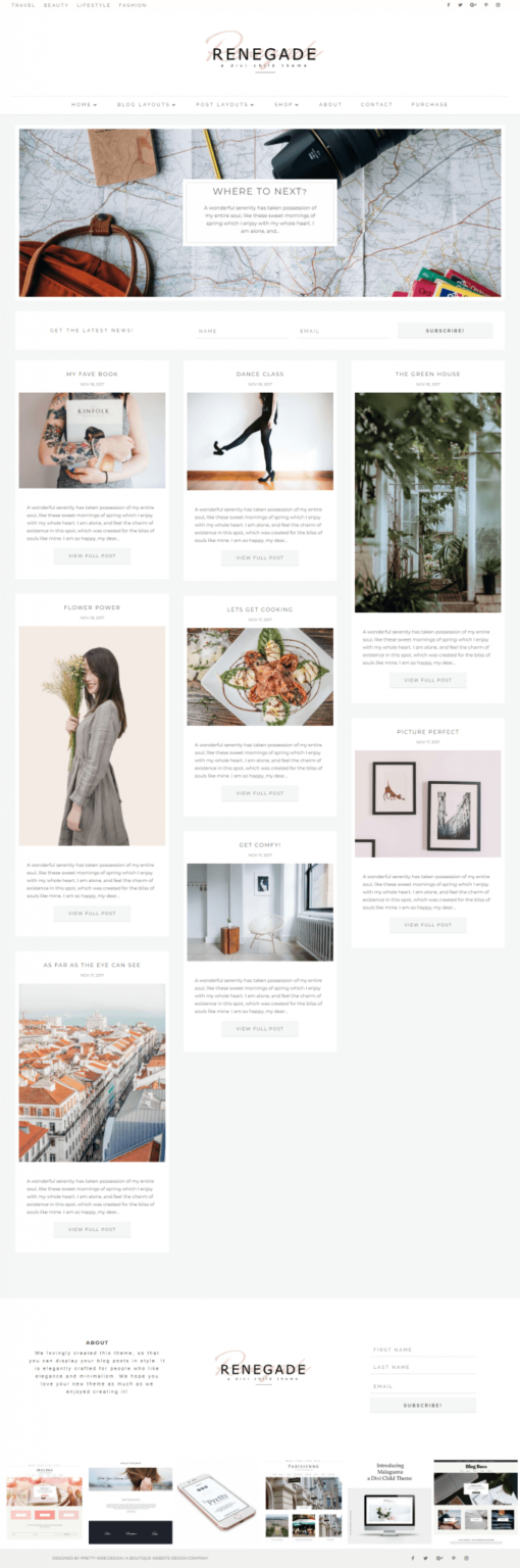 Divi Child Theme Templates I Feminine Divi Child Themes I Divi Child Layouts bloggers entrepreneurs I Girly WordPress Blog Themes I Divi Templates for Bloggers I Feminine WP themes