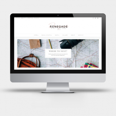 Renegade - A Divi Child Theme for bloggers I Minimal masonry Divi Builder layout