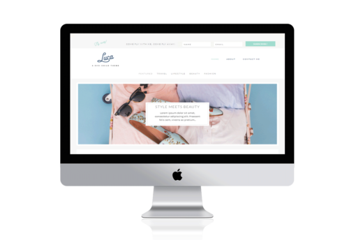 Luca Feminine Divi Child Theme for Travel Bloggers - travel, beauty fashion lifestyle bloggers