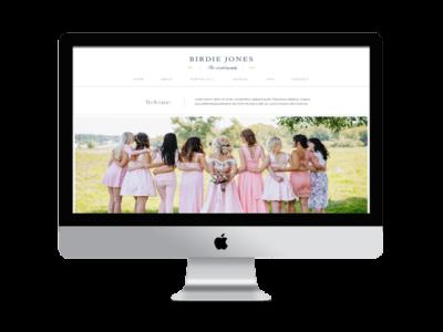 Birdie Feminine Divi Child theme for photographers