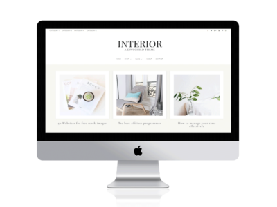 Interior a divi child theme for bloggers