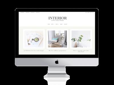 Interior a divi child theme for bloggers