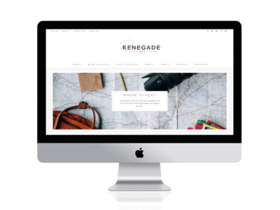 Renegade - A Divi Child Theme -A minimal, masonry Divi Builder Layout theme for bloggers. This theme is built on the Divi framework for photographers, bloggers
