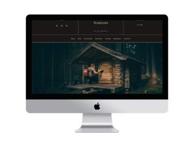 Somerset a divi child theme for photographers I Divi Builder layout for photography I Divi photography Template for creatives I Divi Website
