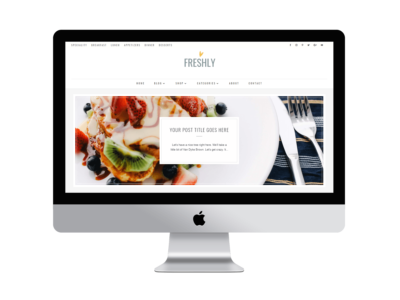 Freshly, a Divi Food and recipe blog child theme