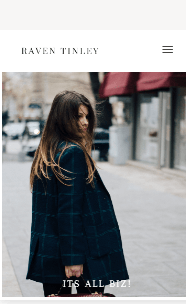 Raven Tinley Divi fashion blog Child Theme