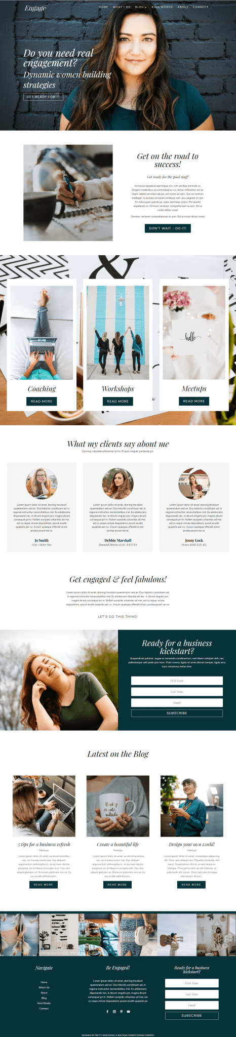 Engage a Divi blog child theme