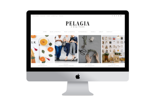 Pelagia Divi Child Blog theme layout template