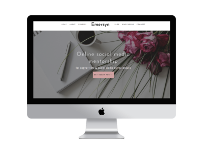 Social Media Manager WordPress theme | Feminine Divi Child Theme