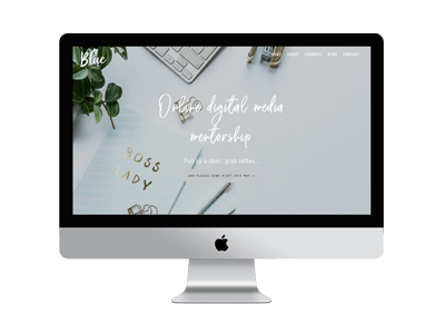 Blue Divi Child Theme for Business