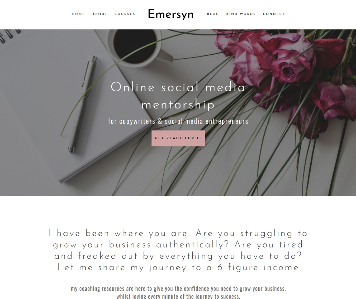 The Emersyn Divi Child theme layout