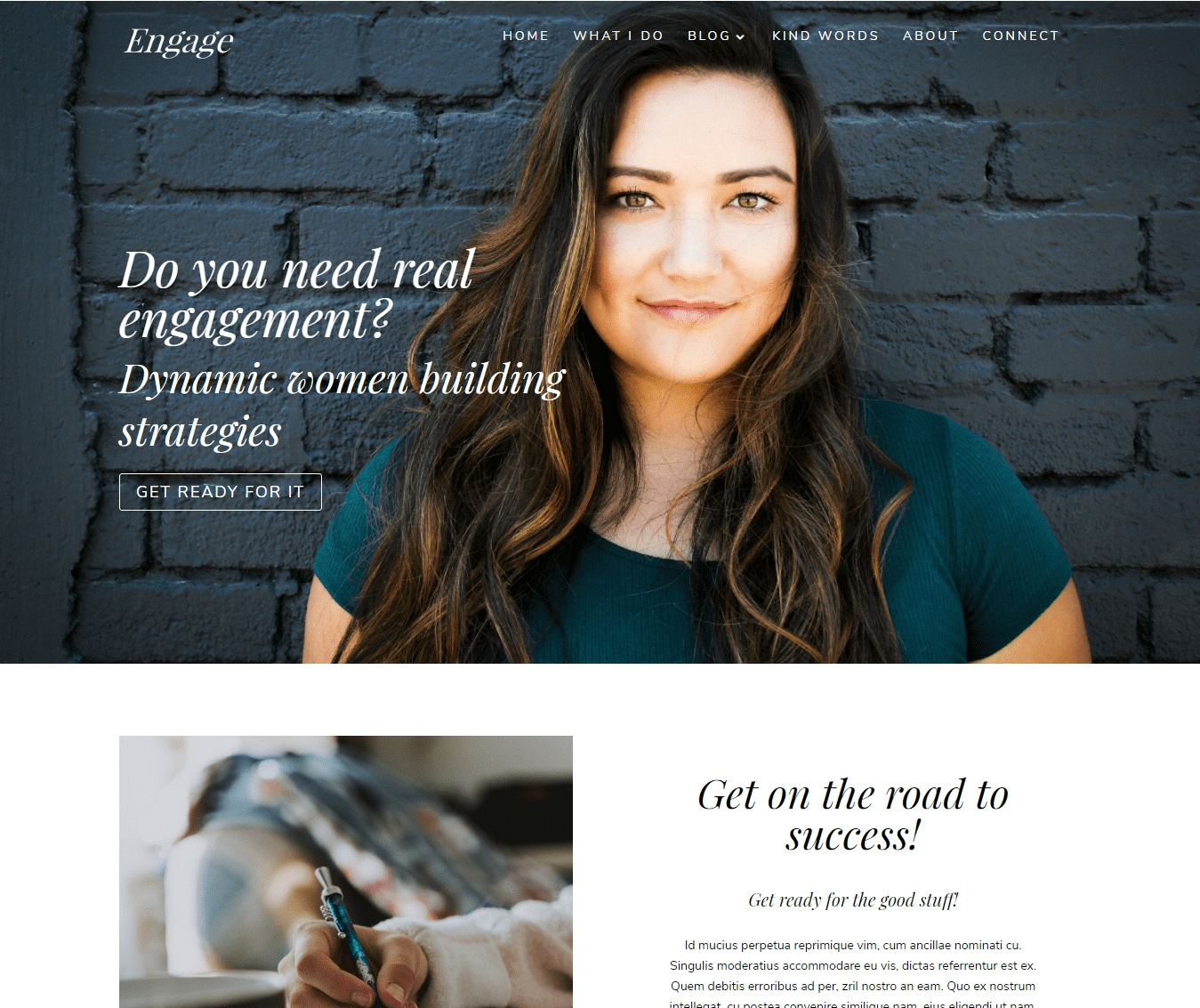 . Engage Divi Business Child Theme catches your attention with bold statements about your business.
