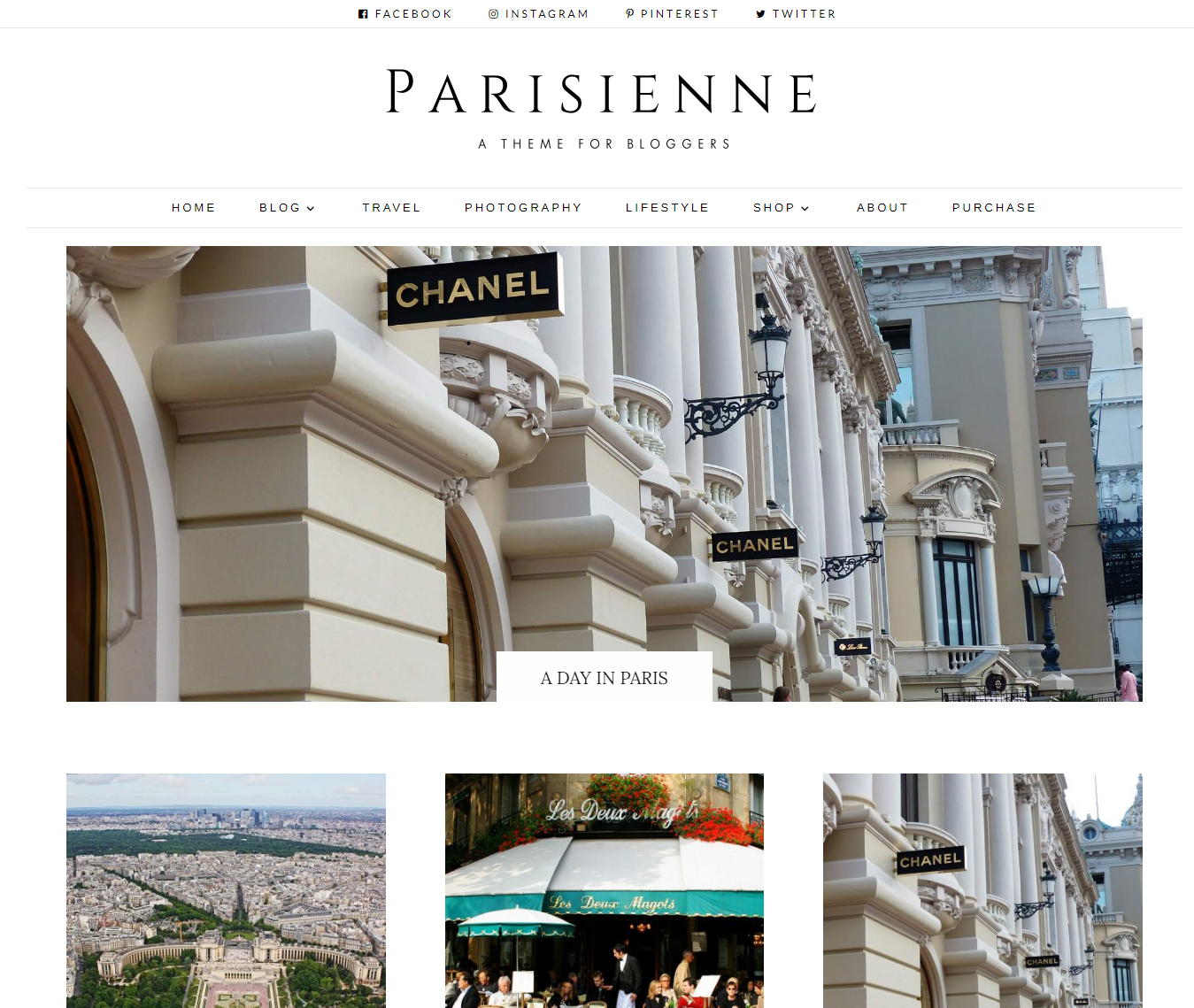 Parisienne – Divi Blog Child theme, is a minimalist, responsive Divi child theme for movers and shakers in the blogging world.
