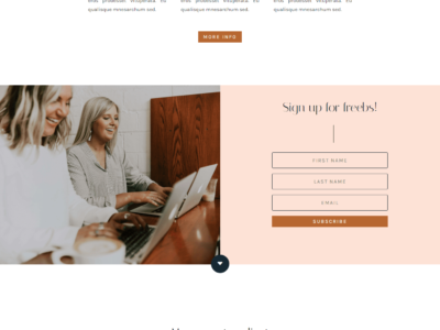 Teyo Feminine Divi Child Theme for Business