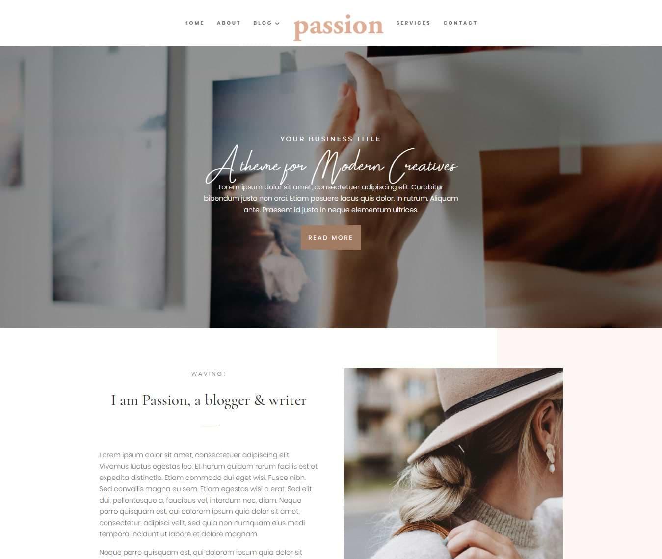 Feminine Divi themes & websites for the modern entrepreneur