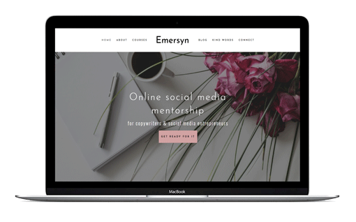 Emersyn with the Digital marketers and course creators in mind. The Emersyn Divi Child theme layout
