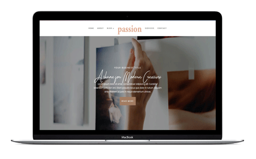 Feminine Divi Business Themes Passion Feminine Divi Child Theme is a custom designed divi child theme layout for business websites, podcasters and social media managers.