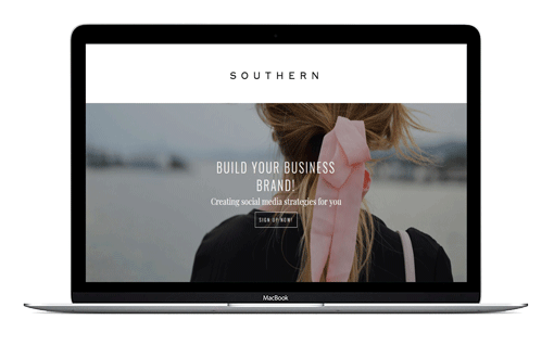 Southern Divi Child Theme for people who love minimal. A Divi child theme for bloggers and entrepreneurs who love feminine.