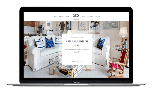 Swish is a feminine custom designed Divi Child Theme for small business owners, entrepreneurs and bloggers