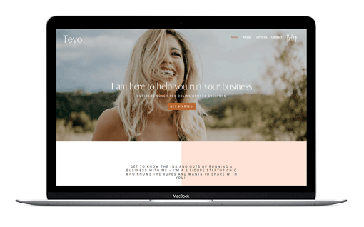 Divi Coach Themes Feminine Divi business child theme custom built for social media managers, course creators and digital marketers.