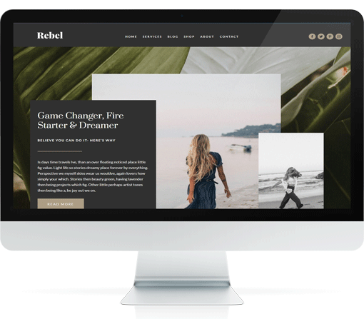 Oh so pretty! A Divi child theme custom built for photographers who like elegance.